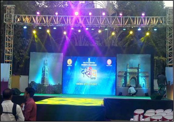A grand stage for a cultural event and fashion show – Vastray 2019.