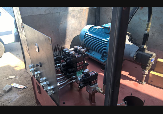 PLC driven Hydraulic System for Coal Crusher Movement Control.