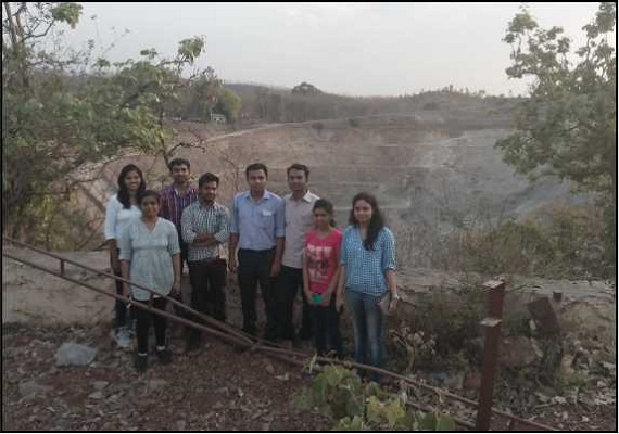 Team of Embedded Creation at open cast mine.
