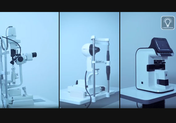 A conventional setup of an eye clinic.